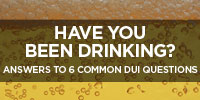 Answers to 6 Common DUI Questions