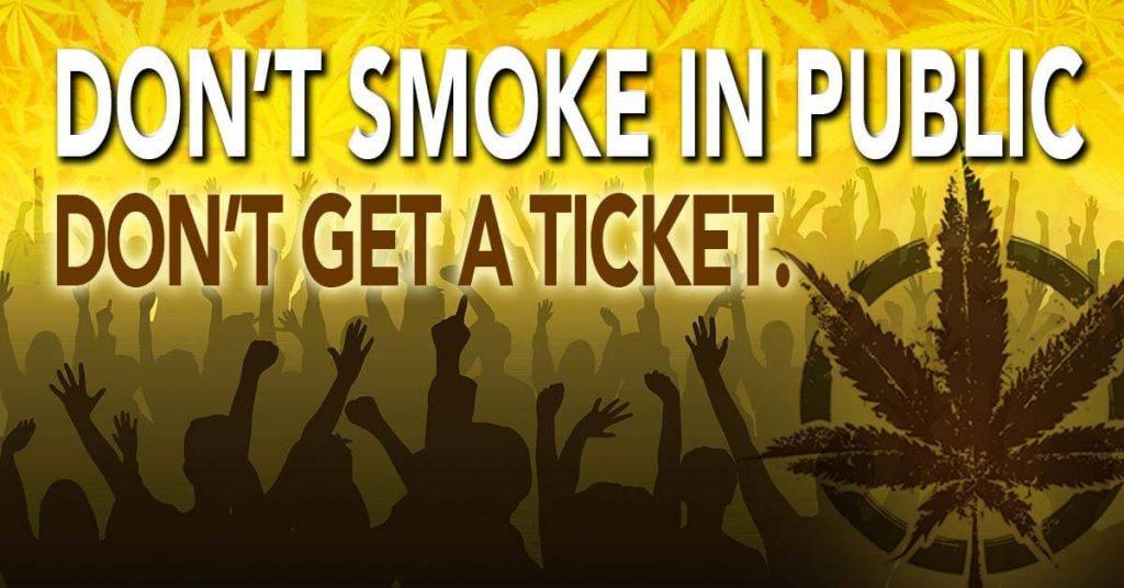 Marijuana law states you cannot smoke in public