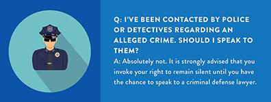 criminal defense FAQ infographic