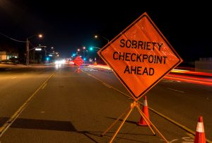 A DUI check point sign