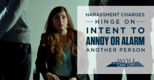 infograph about harassment charges in Colorado